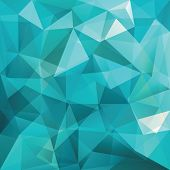 image of crystal glass  - abstract triangle background - JPG