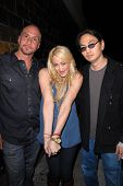 Mark Racco, Jennifer Blanc-Biehn and Jeehun Hwang at Jennifer Blanc-Biehn's Birthday Party, Sardos, Burbank, CA. 04-23-10