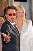 Robert Downey Jr. and Gwyneth Paltrow  at the