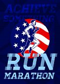 American Marathon Achieve Something Poster