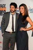 Ali Landry and husband Alejandro Gomez Monteverde  at the 17th Annual Race To Erase MS, Century Plaz