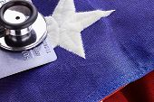 Stethoscope And American Flag