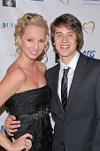 Molly McCook and Devon Werkheiser at the Midnight Mission's 10th Annual Golden Heart Awards, Beverly Hilton Hotel, Beverly Hills, CA. 05-10-10