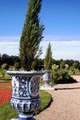 Beautiful garden in Rundale palace
