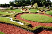 Beautiful garden in Rundale castle