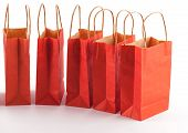 Red Shopping Bag Line