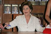Laura Bush at a book signing for 'Spoken From The Heart,