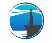 Lighthouse button or icon