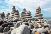 Stone Stacks Against Sky