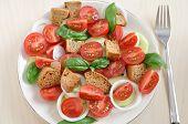 Постер, плакат: Panzanella healthy Italian Salad