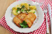 Wiener Schnitzel with salad