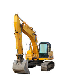 image of power-shovel  - modern excavator isolated on the white background
