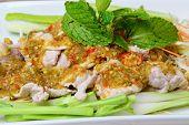 Boiled Pork With Lime Garlic And Chili Sauce (moo Ma Nao)