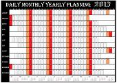 Daily Monthly Yearly Planning Chart 2015