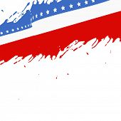 american flag background with ink splashes