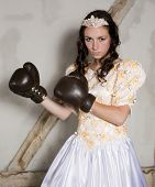 Princess With Boxing Gloves