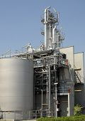 stock photo of pharmaceutical company  - Detail of a chemical plant of the pharmaceutical industry - JPG