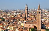 Sant' Anastasia Church and Torre dei Lamberti (Lamberti Tower), Verona, Italy