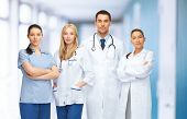 healthcare and medical concept - young team or group of doctors