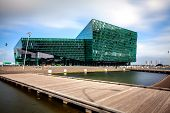 REYKJAVIK, ICELAND - AUGUST 31, 2013: Harpa concert hall in Reykjavik, Iceland. Harpa was opened on