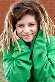 Rasta Girl Smiling
