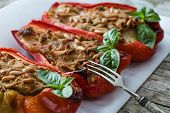 Tuna Fish Stuffed Peppers