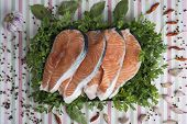 Sliced Fresh Salmon