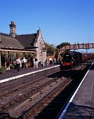 Steam train in station, Bridgnorth.