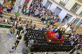 Malaga, Spain - April 09: Traditional Processions Of Holy Week In The Streets On April 19, 2009 In M