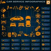 picture of car symbol  - Car service auto repair Infographics - JPG