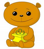 Teddy bear with a gift box