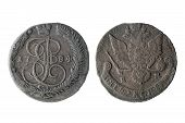 stock photo of reign  - old copper coins - JPG