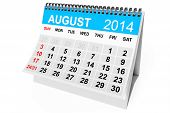 picture of august calendar  - 2014 year calendar - JPG