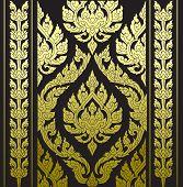 border thai pattern with thai pattern background