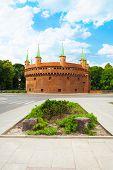 Krakow Barbican (Basztowa) in Poland