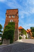stock photo of na  - Walls tower Wawel Royal Castle  - JPG