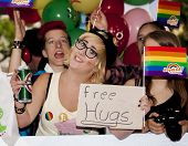 Happiness Girl Offer Free Hugs