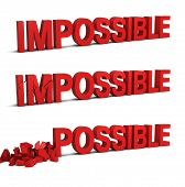 stock photo of impossible  - Impossible becomes possible - JPG