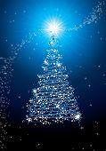 Blue new year tree