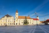 stock photo of sibiu  - Piata Mare  - JPG