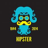 Hipster Concept Vector Illustration - Retro Style Design