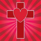 Cross and heart