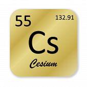 Cesium element