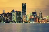 image of florida-orange  - Famous cIty of Miami Florida USA summer sunset - JPG