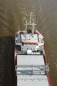 Beldorf - Freighter On The Kiel Canal (aerial View)