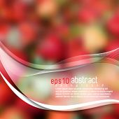 eps10 vector realistic blurred strawberry background