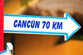 Cancun Direction Signpost