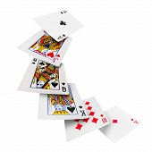 pic of poker hand  - The combination of playing cards poker casino - JPG