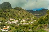 pic of hamlet  - Serra De Agua, Madeira, Portugal. View from a hamlet road