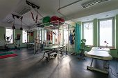 Rehabilitation Room At Physiotherapy Clinic